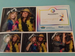 My fellow Event Coordinator, Michelle, and I after a hard day's work at the Hummingbird Gala.
