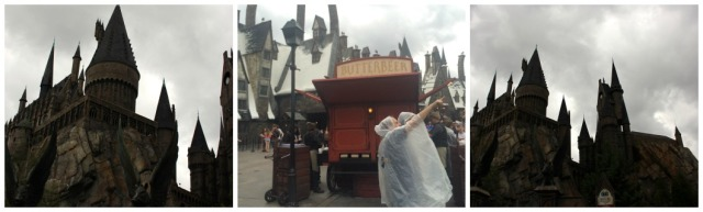 Ominous skies lead to rain in Hogsmeade today.
